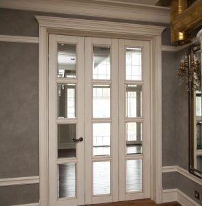 Эмалированные межкомнатные двери со стеклом