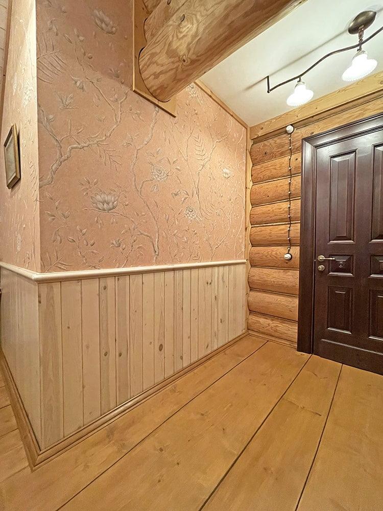 Реечные стеновые панели из массива сосны