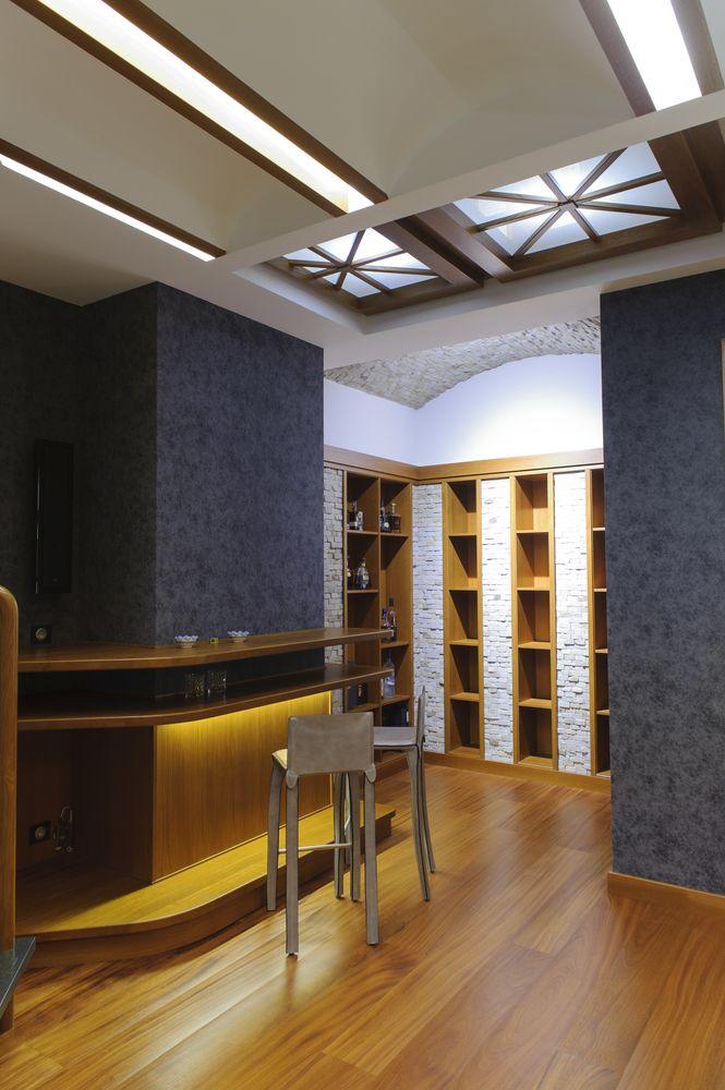 Современный кессонный потолок с подсветкой