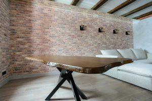 Обеденный стол из массива дуба в стиле лофт