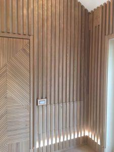 Реечные стеновые панели из ясеня