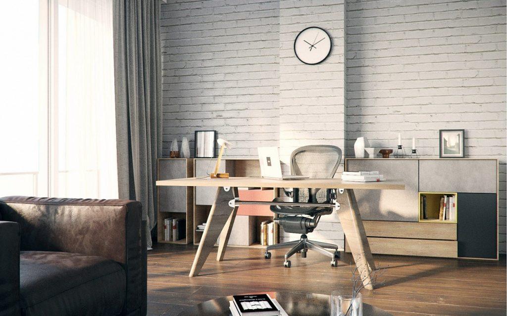 Мебель из шпонированного МДФ для кабинета