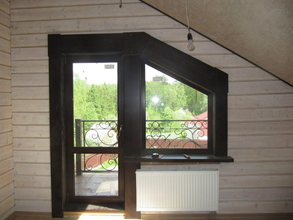 Изделия из массива дуба для деревянного дома